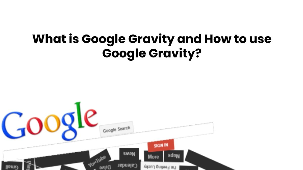 What is Google Gravity and How to use it?