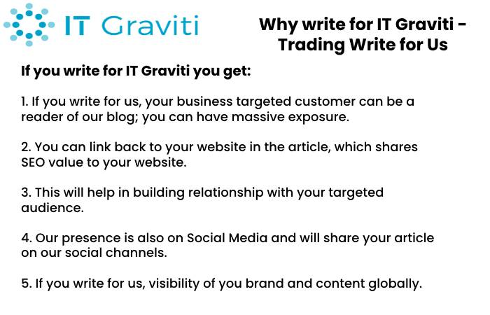 Trading Why Write for Us