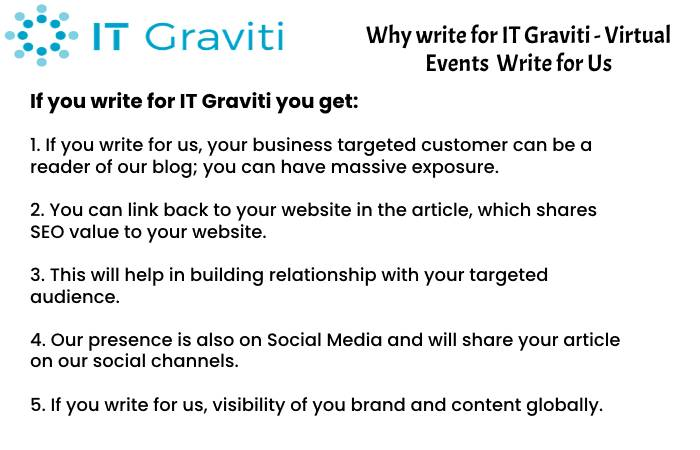 Virtual Events Why Write for Us