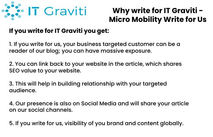 Micro Mobility Why write for Us