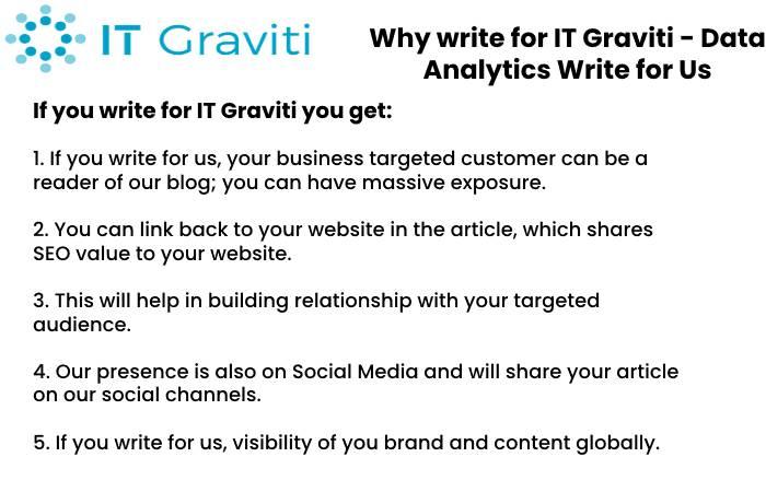 Data Analytics Why Write for Us