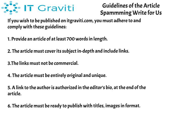 guidelines Spamming write for us